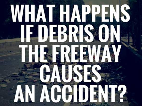 Debris on the road - what to do if an accident happens?