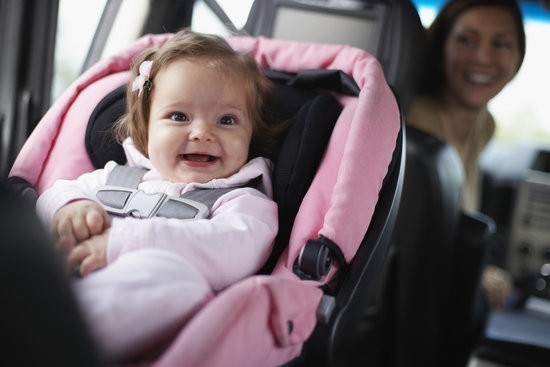 Happy Baby in seat