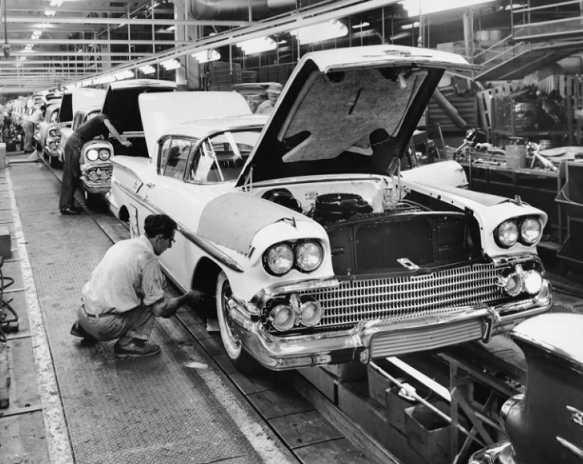 1950s era motor cars