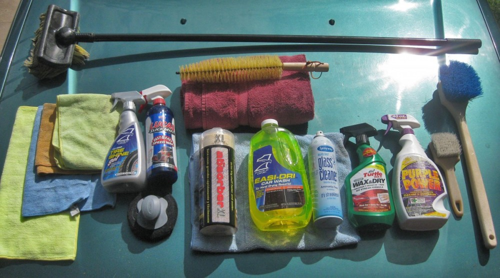 Car Washing supplies