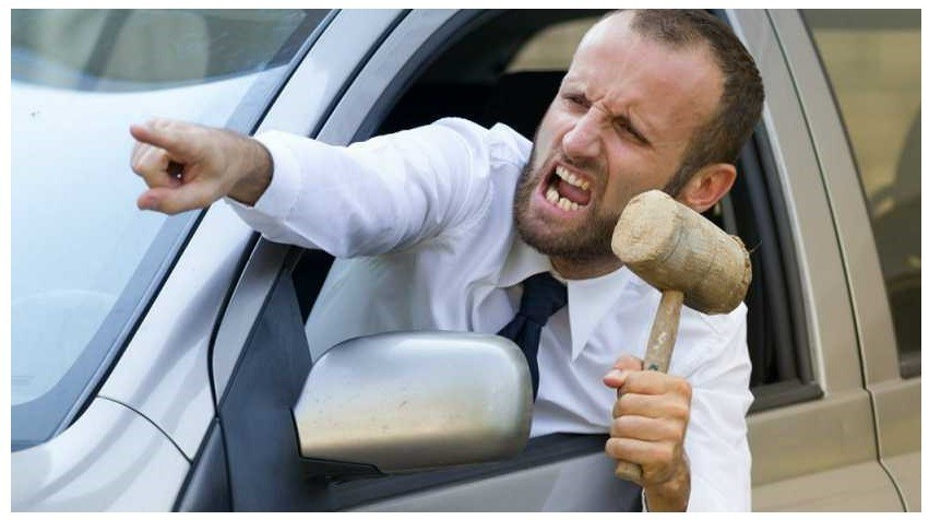 Road rage doesn't solve anything