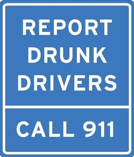 Report drunk drivers