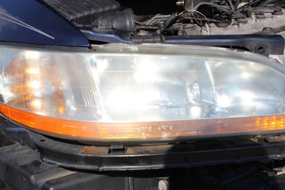 cloudy automotive headlamp