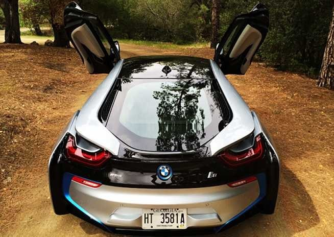 The BMW i8, which will have Gorilla Glass for its windows.