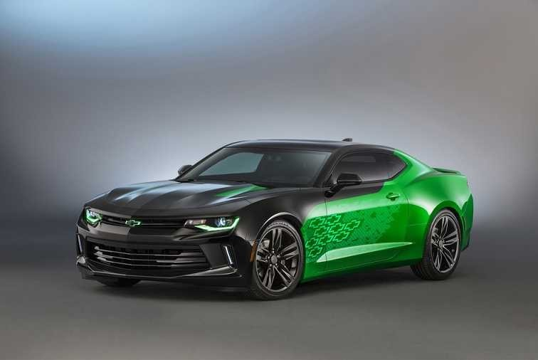 Chevrolet's 2016 Camaro green Krypton concept car