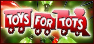 Toys For Tots holiday campaign for a body shop