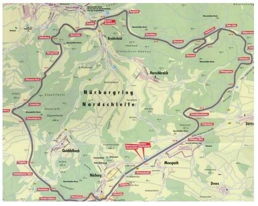 Nurburgring Nordschleife in Germany