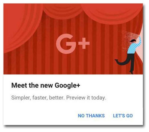 Google+ has a new look for its users