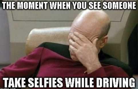 Driving Selfie Meme