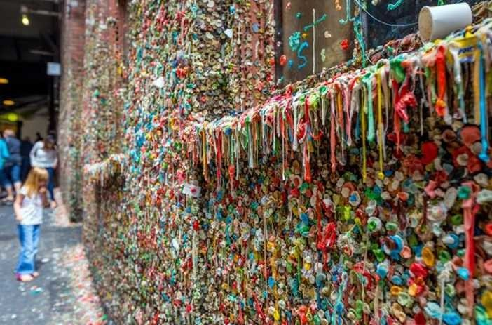 The Market Theater Gum Wall, Seattle, Washington