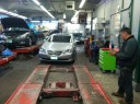 Accurate alignments are the conclusion to a safe and high quality repair done at Car Kraft Auto Body, Englewood, NJ, 07631