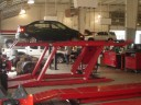 Professional vehicle lifting equipment at Fred Haas Toyota Collision Center, located at Spring, TX, 77373, allows our damage estimators a clear view of all collision related damages.