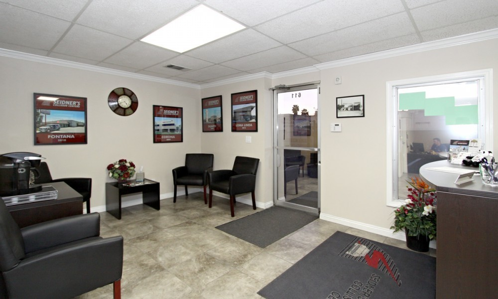 Seidner's Collision Center - Ontario 611 W Holt Blvd  Ontario, CA 91762 Collision Repair Experts.  Our Office & Waiting Is Inviting & Friendly.  Our Office Staff Is Highly Experienced And Ready To Assist You With Your Collision Repair Needs.