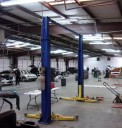 Professional vehicle lifting equipment at Collision Craft, located at Memphis, TN, 38128, allows our damage estimators a clear view of all collision related damages.