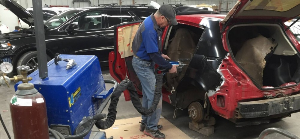 All of our body technicians at Arrowhead Auto Body, Hermantown, MN, 55811, are skilled and certified welders.