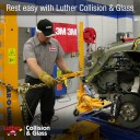 Professional vehicle lifting equipment at Luther Collision & Glass - Plymouth, located at Plymouth, MN, 55442, allows our damage estimators a clear view of all collision related damages.