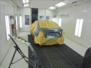 A neat and clean and professional refinishing department is located at Sunshine Collision Center, Boca Raton, FL, 33431