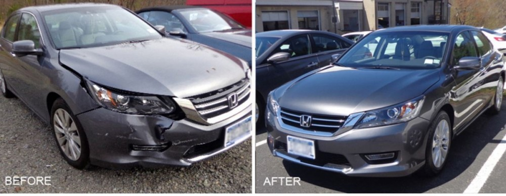 Our shop at Delta Collision Inc., we have photos for our customers to see our before and after repair to enjoy.