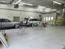 A neat and clean and professional refinishing department is located at Westgate Collision, Raleigh, NC, 27617