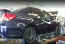 Accurate alignments are the conclusion to a safe and high quality repair done at Frank's Collision Center, San Clemente, CA, 92672