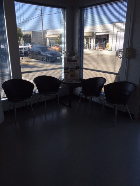 The waiting area at our body shop, located at San Rafael, CA, 94901 is a comfortable and inviting place for our guests.