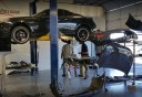Professional vehicle lifting equipment at Kaizen Auto Care, located at Gilbert, AZ, 85233, allows our damage technicians a clear view of what might be causing the problem.