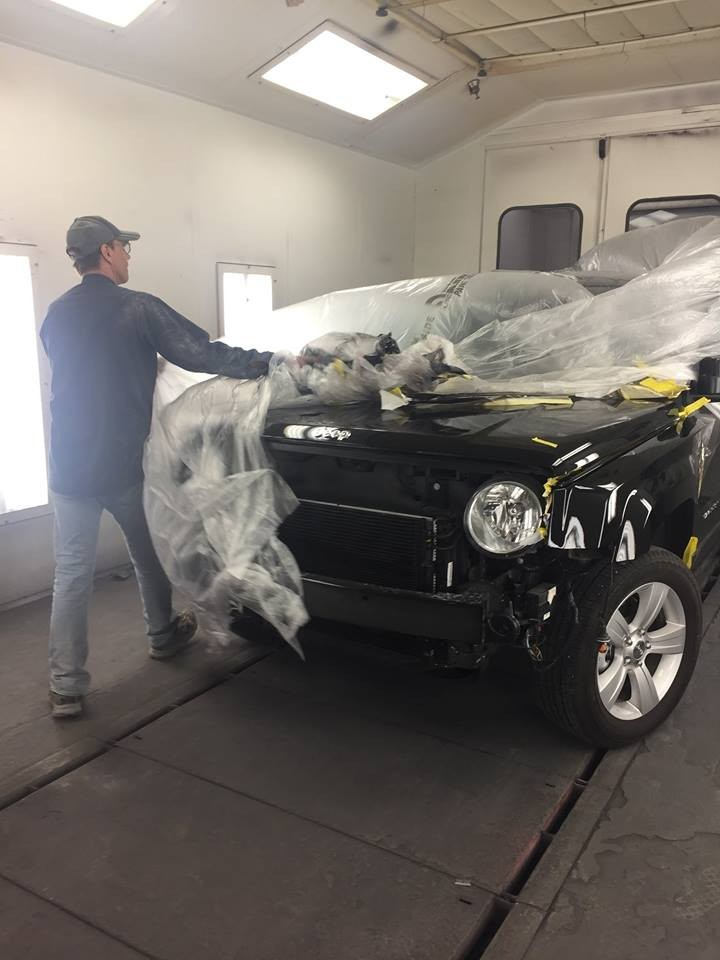 A clean and neat refinishing preparation area allows for a professional job to be done at Chaz Limited Collision Express Wasilla, Wasilla, AK, 99654.