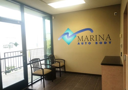Marina Auto Body LAX 630 S. Glasgow  Inglewood, CA 90301 Auto Body & Painting Professionals. Automobile Collision Repair Experts. Our guest waiting area is comfortable and accommodating.
