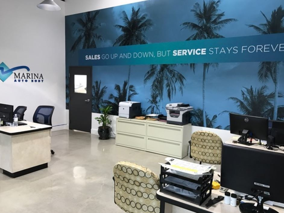 Our body shop's business office located at Marina Del Rey, CA, 90292 is staffed with friendly and experienced personnel.