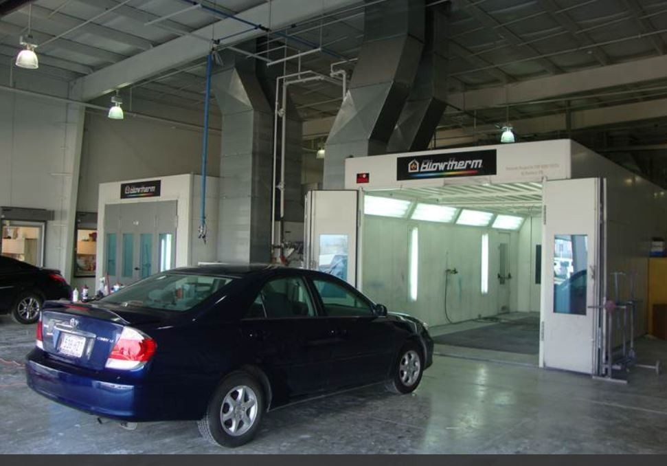 A clean and neat refinishing preparation area allows for a professional job to be done at McCall Fort Bend Toyota Collision Center, Richmond, TX, 77469.