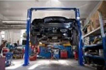 ... Professional Vehicle Lifting Equipment At Davis Chevrolet Buick GMC ,  Located At Lexington, NC,