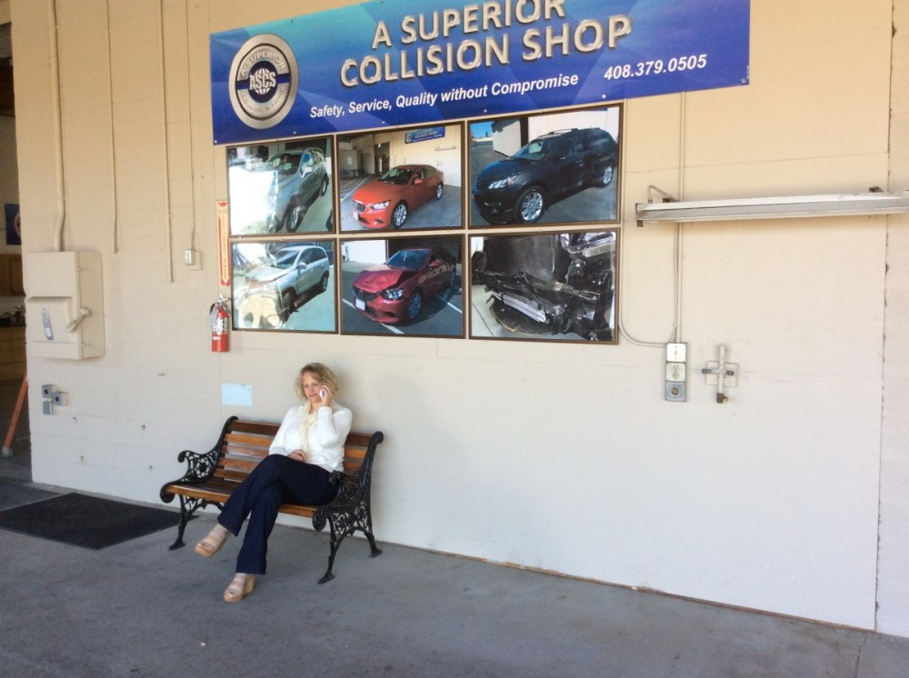 The waiting area at our body shop, located at Campbell, CA, 95008 is a comfortable and inviting place for our guests.
