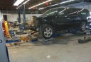 Professional vehicle lifting equipment at Charles Clark Chevrolet Collision Center , located at Mcallen, TX, 78501, allows our damage technicians a clear view of what might be causing the problem.