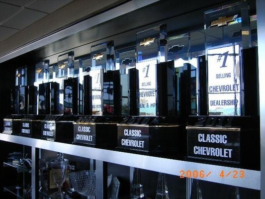 At Classic Chevrolet - Grapevine, in Grapevine, TX, we proudly post our earned certificates and awards.