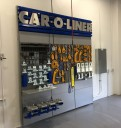 Professional vehicle lifting equipment at Sawgrass Ford Collision Center, located at Sunrise, FL, 33345, allows our damage estimators a clear view of all collision related damages.