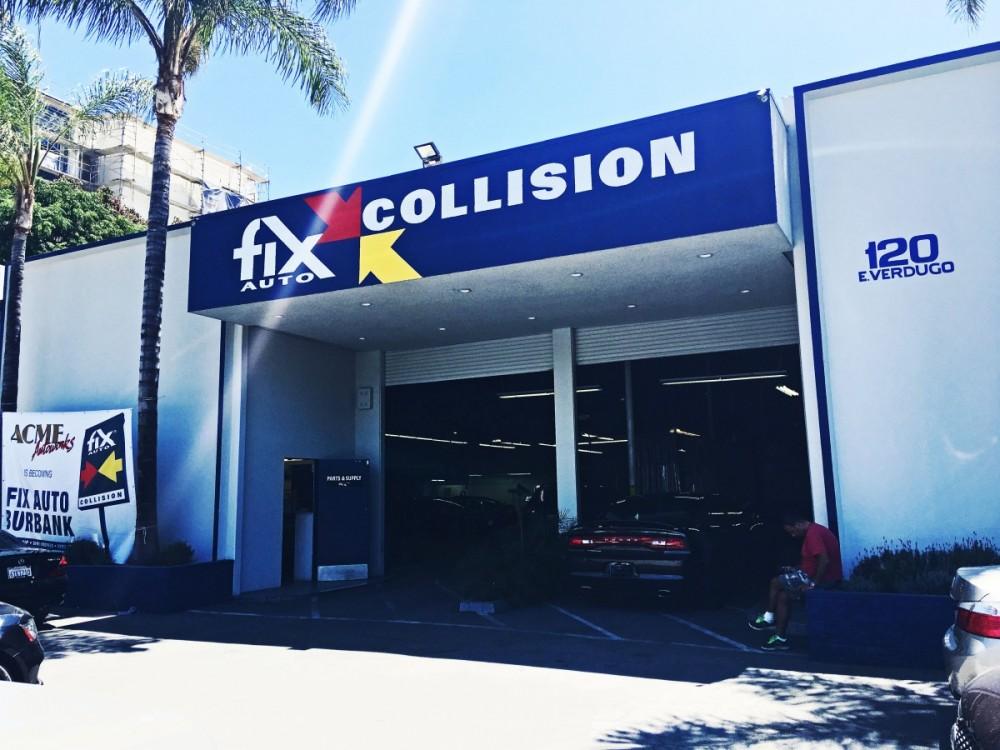 Main Building at Fix Auto Burbank auto body shop - 120 E Verdugo Ave in Burbank, CA