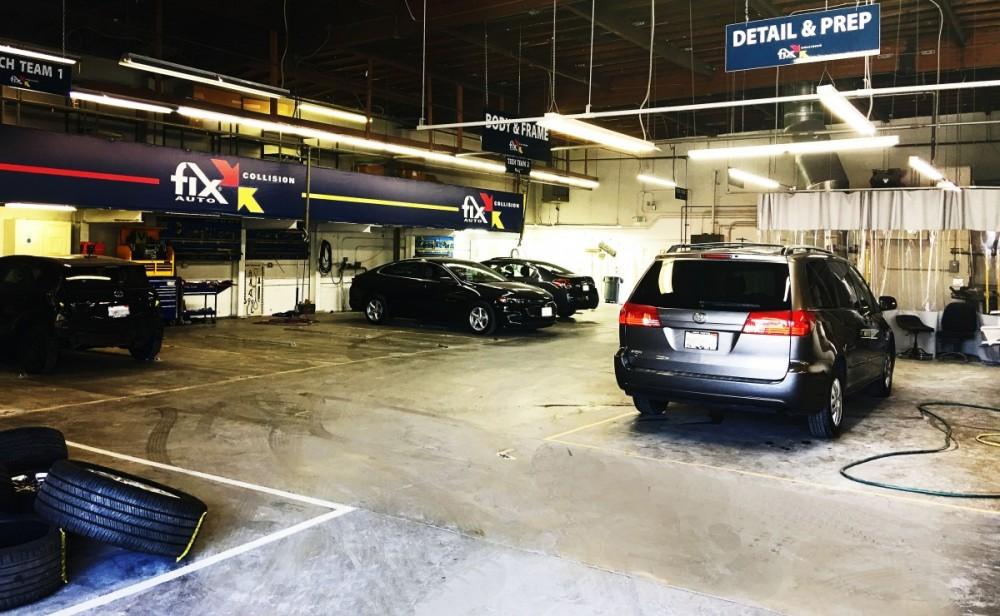 Teams 1 and 2 at Fix Auto Burbank auto body shop - 120 E Verdugo Ave in Burbank, CA