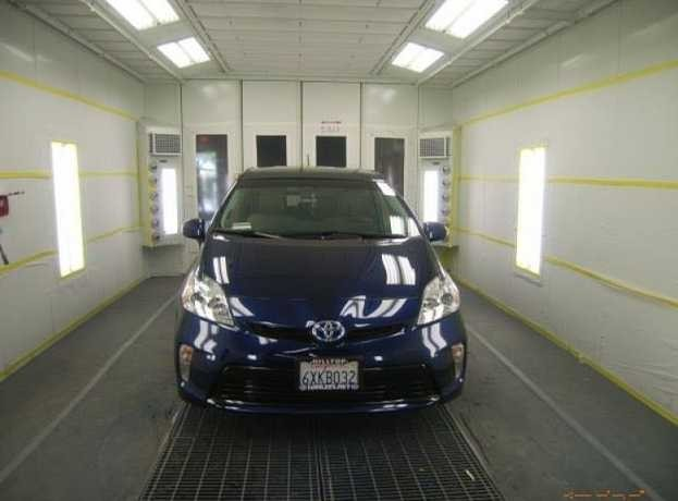 A professional refinished collision repair requires a professional spray booth like what we have here at Accurate Auto Body in Richmond, CA, 94806.
