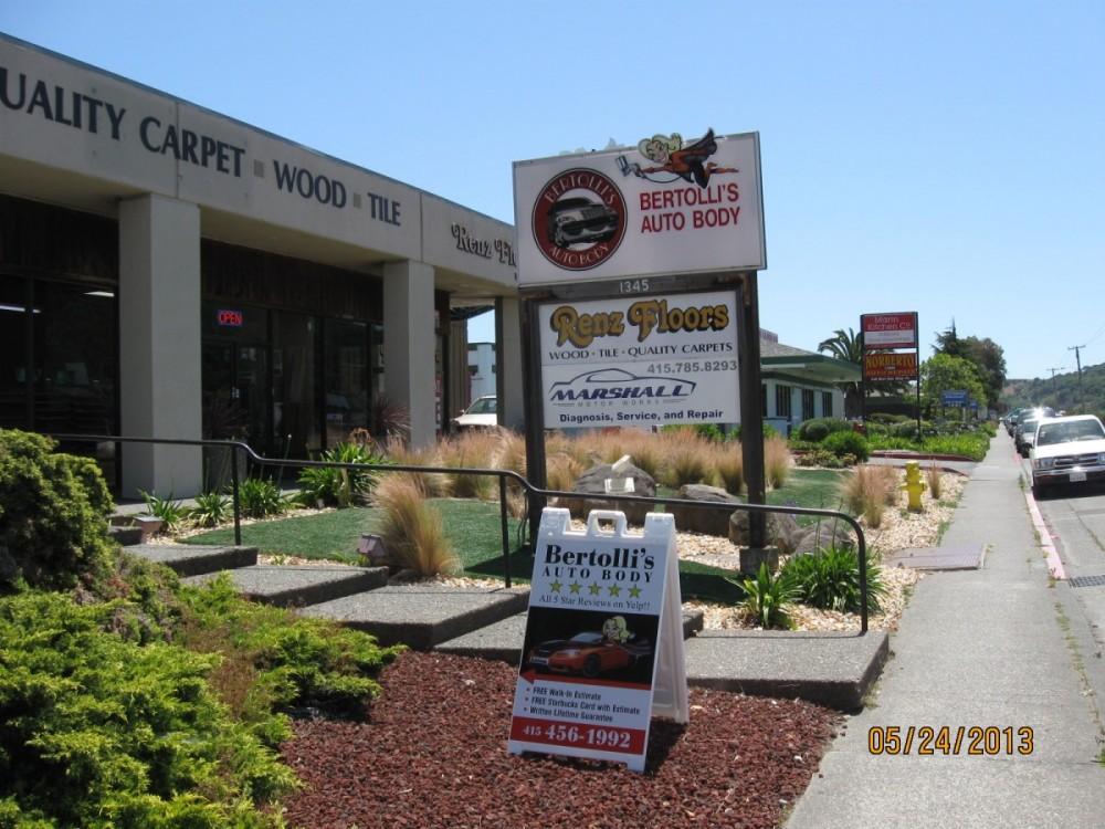 Bertolli's Auto Body Shop, Inc. 1345 Francisco Blvd E # A  San Rafael, CA 94901  CENTRALLY LOCATED FOR EASY ACCESS ....