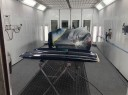 A professional refinished collision repair requires a professional spray booth like what we have here at Collision Works - Mustang in Mustang, OK, 73064.