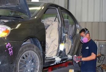 Professional preparation for a high quality finish starts with a skilled prep technician.  At Auto Masters Derby: A Collision Works Company, in Derby, KS, 67037, our preparation technicians have sensitive hands and trained eyes to detect any defects prior to the final refinishing process.