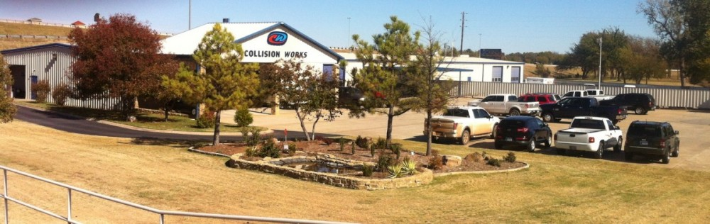 A clean and neat body shop, for a professional repair job -- Collision Works - Shawnee, Shawnee, OK, 74804.