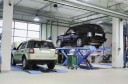 Accurate alignments are the conclusion to a safe and high quality repair done at Sabo Auto Body, Seymour, CT, 06483