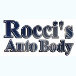 Rocci's Auto Body Morgan Hill CA 95037 Logo. Rocci's Auto Body Auto body and paint. Morgan Hill CA collision repair, body shop.