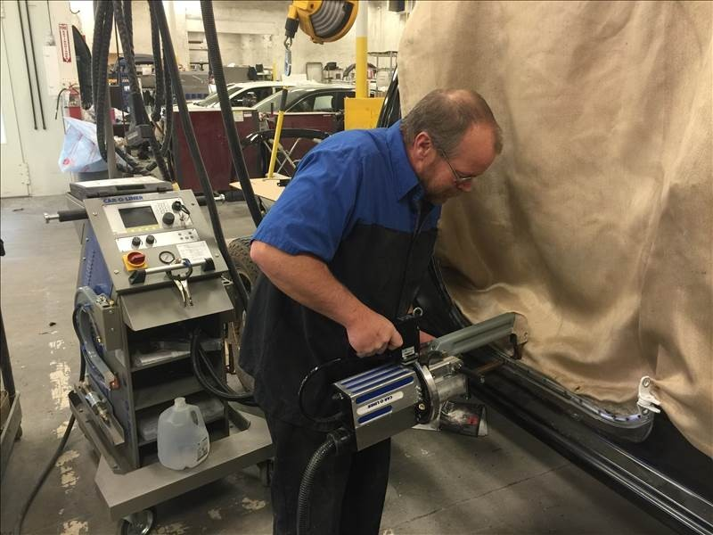 Hendrick Collision Center - Fayetteville 5510 Cliffdale Rd  Fayetteville, NC 28314    State of the Art Welding Equipment Along With Skilled Technicians Duplicate Factory Welds on Your Vehicle.