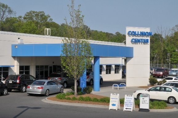 Hendrick Collision Center South 8901 South Boulevard  Charlotte, NC 28273  We are a Large State of the Art Collision Center.  We are centrally located with easy access and ample parking for our guests.