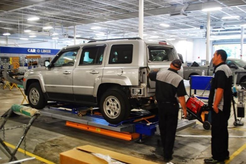 Accurate alignments are the conclusion to a safe and high quality repair done at Hendrick Luxury Collision Center, Charleston, SC, 29407