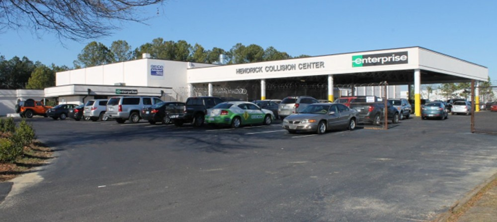 Hendrick Chrysler Jeep 543 N. McPherson Church Road  Fayetteville, NC 28303 Auto Body & painting.  Collision Repair experts. We are centrally located with easy access and ample parking for our guests.