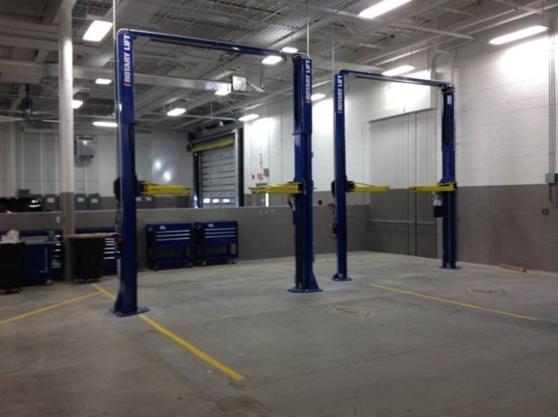 Professional vehicle lifting equipment at Hendrick Luxury Collision Center, located at Charleston, SC, 29407, allows our damage estimators a clear view of all collision related damages.