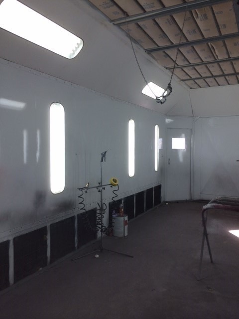 Danny Brown's Paint & Body Shop. Huntsville, TX.  Paint Equipment forT oday's Finishes